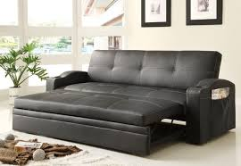 black leather convertible sofa bed for living room