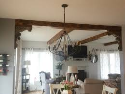 Maybe I can do corbels and wood beams in the kitchen/living room?