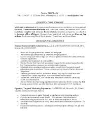 Resume Examples For Safety Professionals Human Resources Service