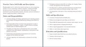 Registered Nurse Job Description For Resume Free Resume Example