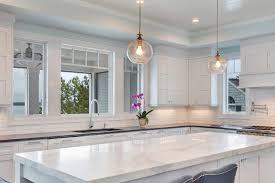 White Transitional Kitchens Photos Hgtv White Transitional Kitchen With Gray Island Jeunecul