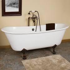 Ethan Cast Iron Clawfoot Tub Lion Paw Feet Bathroom - Clawfoot tub bathroom