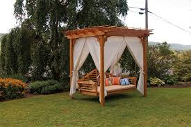 pid Amish Cedar Wood 6 x 8 Pergola with Swing Hangers 140