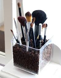 brush holder beads. makeup brush holder dust free storing your brushes in a vase of coffee beans beads f