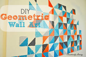 geometric wall paintDIY Geometric Wall Art nursery project 1  Creatively Living Blog