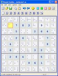 Sudoku Puzzel Solver Simple Sudoku Freeware Puzzle Maker And Solver For Private Use