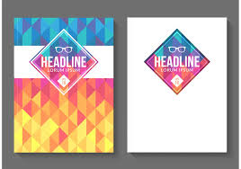 cover vector art s vector geometric magazine covers