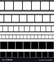 Film Strips Pictures Film Strips Stamps And Photo Negatives Set Vector Image