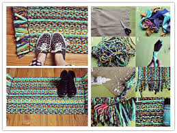 how to upcycle old clothes into diy braided rugs