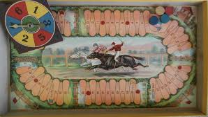 Wooden Horse Racing Dice Game Milton Bradley's Game of Steeple Chase All About Fun and Games 99