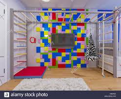 Children S Interior Design 3d Illustration Of Interior Design Childrens Room For A Boy
