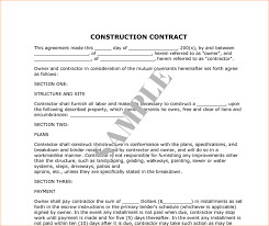 Sample Construction Contract Construction Contract Sample Template Guatemalago