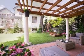 hereu0027s a great pergola design that lets in lot of light and protects you from the rain covered deck ideas r80 deck