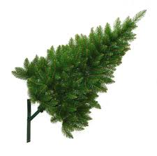 Wall Christmas Trees Wall Mounted Half Christmas Tree 4ft 12m Restricted Space Indoor