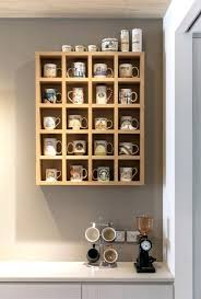 coffee mug wall shelf wooden shelving unit with awesome ways to organize your coffee mug wall mounted coffee cup shelf