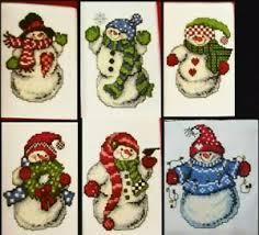 Details About 6 Colorful Snowmen Christmas Bird Wreath Snowflake Lights Cross Stitch Pattern