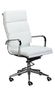 high office chairs. Amazon.com: Classic Replica High Back Office Chair - WHITE Vegan Leather, Thick Density Foam, Stabilizing Bar Swivel \u0026 Deluxe Tilting Mechanism: Chairs