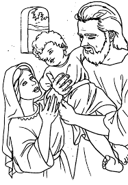 Catholic Holy Family Coloring Page Art Family Coloring Pages