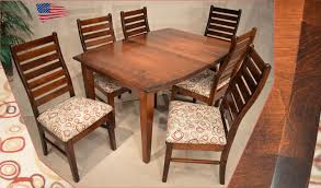 Amish Shaker Dining Table And Liberty Ladder Back Chairs Jasens - Amish oak dining room furniture
