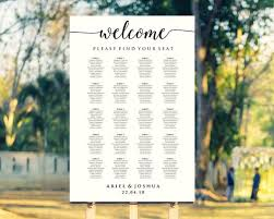 Create Your Own Table Chart Welcome Wedding Seating Chart Template Please Find Your