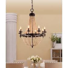 wood lighting. Sonoma Natural Beaded Brown 8-light Chandelier Wood Lighting A