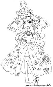 Small Picture Lizzie Hearts Way Too Wonderland Ever After High Coloring Pages