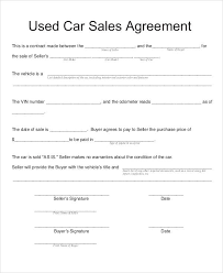 Sample Vehicle Sales Contract - April.onthemarch.co