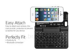 iPhone 5 5s Case with Bluetooth Keyboard