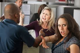 the office etiquette how to get along the co worker chaos between a group of coworkers in office