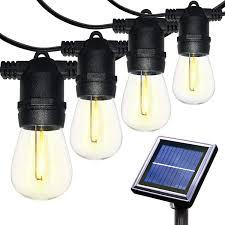 Solar Powered Retro Style String Light Bulbs