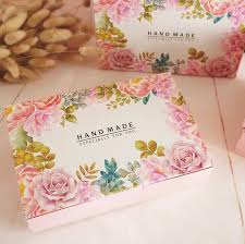Flower Printed Paper Us 20 03 13 Off 20pcs Hot Flower Printed Pink Gift Paper Box Handmade Moon Cake Box Chocolate Packaging Box Macaroon Gift Boxes 21 6x13 5x5cm In