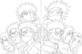 Naruto Characters Coloring Pages Of Page Art Anime Free Printable