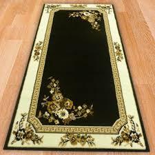 range 93 black fl white border rug
