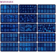 1Pc JR <b>Nail Stamping</b> Plates (<b>6*12cm</b>) Stainless Steel Image Konad ...