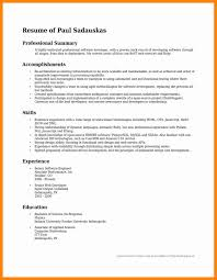 Sample Summary For Resume Professional Summary Resume Sample Professional Summary For Resume 19