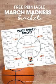Ncaa Free Tournament Bracket Free Printable Included