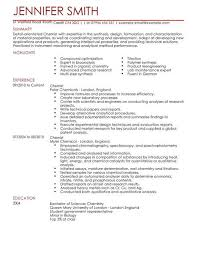 Resume Builder Livecareer Interesting Chemist CV Template Science CV Examples LiveCareer CV