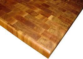 custom white oak butcher block countertop photo