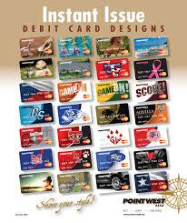 Debit Card Designs Pointwest Bank