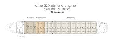 Seat Map Royal Brunei Airlines