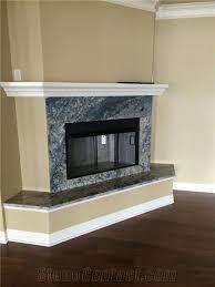 azurite granite modern style fireplace surround