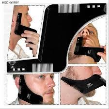Beard Shaping Tool Template <b>Double Sided</b> Beard Comb New <b>Hot</b> ...