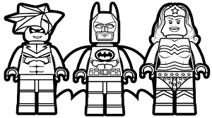 lego batman and nightwing wonder woman coloring book with pages