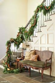 Full Image for Banister Christmas Decorations Best Staircase Images On Time  Making Merry Banister Banquette Simple ...