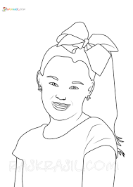 Simply click on the right of the image then select save. Jojo Siwa Coloring Pages 18 New Images Free Printable
