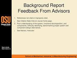 Background Report Feedback Ppt Download