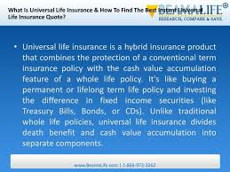 what is universal life insurance how to find the best instant universal life insurance quote