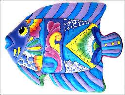 metal fish art wall decor