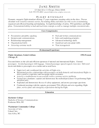 Resume Format For Flight Attendant Free Resume Example And