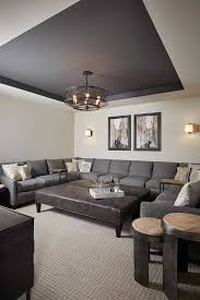 basement paint ideas. Fresh Living Room Paint Ideas Of Basement Color Walls Are Benjamin Moore Revere Pewter And The D